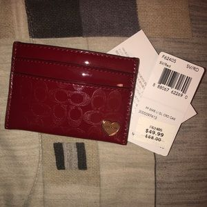 Red coach card holder